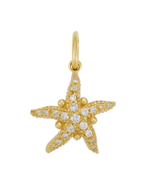 Temple St. Clair | Metallic 18k Gold Pavé Diamond Sea Star Pendant | Lyst