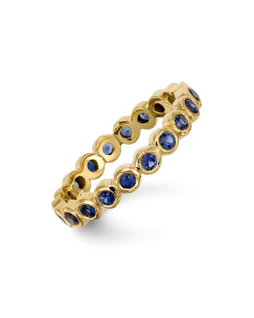 Temple St. Clair | 18k Gold Eternity Ring With Blue Sapphires | Lyst