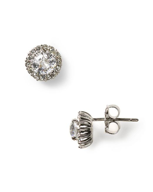 Nadri | Metallic Sterling Pave Stud Earrings | Lyst