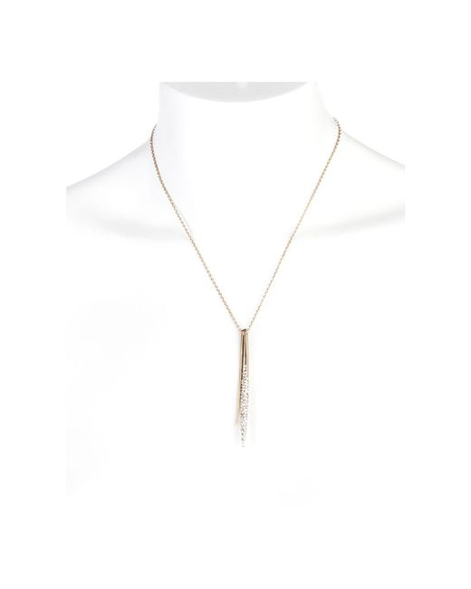 Alexis Bittar | Metallic Miss Havisham Spear Pendant Necklace, 16"