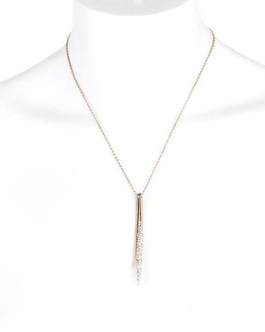 "Alexis Bittar   Metallic Miss Havisham Spear Pendant Necklace, 16""   Lyst"