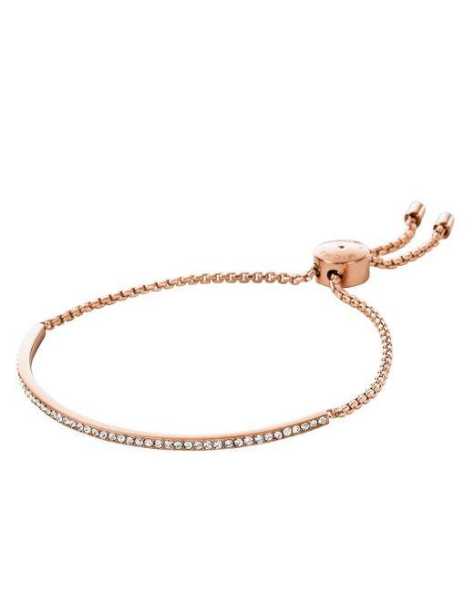 Michael Kors | Pink Pave Slider Bracelet | Lyst