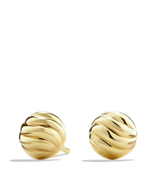 David Yurman | Metallic Sculpted Cable Earrings In Gold | Lyst