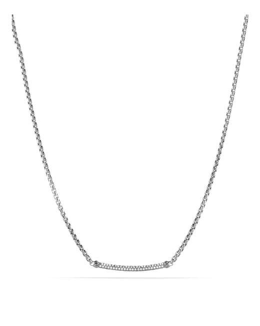 David Yurman | Metallic Petite Pavé Metro Chain Necklace With Diamonds | Lyst