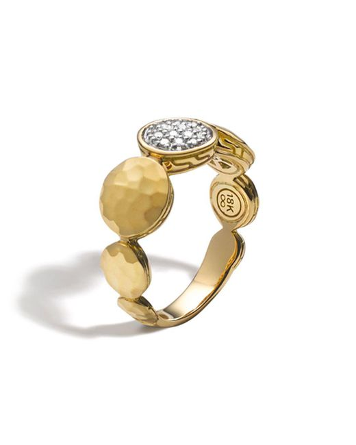 John Hardy - Metallic Palu 18k Gold Diamond Pavé Ring, .10 Ct. T.w. - Lyst