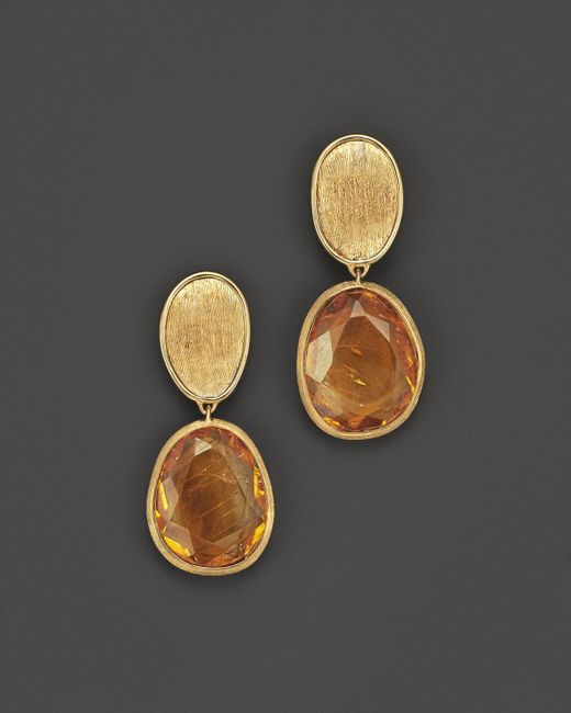 Marco Bicego | Metallic 18k Yellow Gold Lunaria Citrine Drop Earrings - Bloomingdale's Exclusive | Lyst