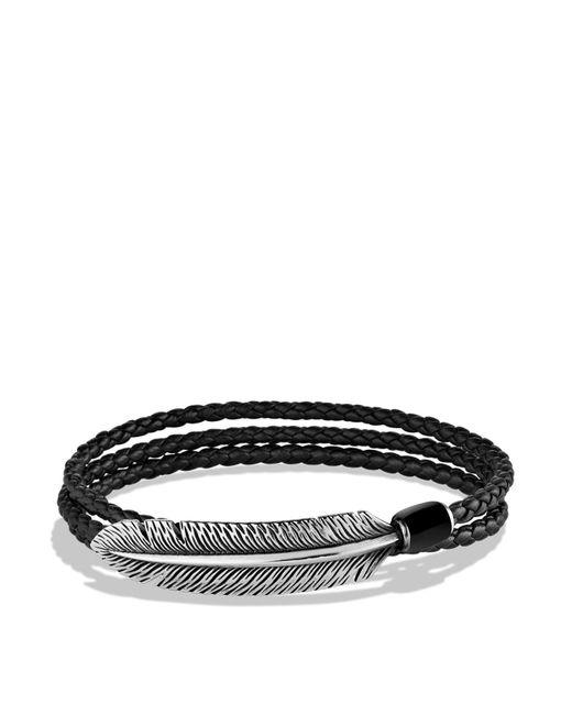 David Yurman | Frontier Feather Triple-wrap Bracelet In Black With Black Onyx for Men | Lyst