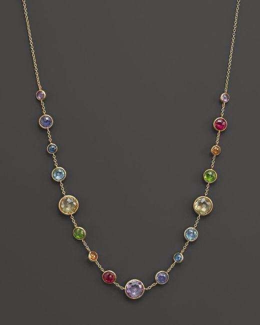 "Ippolita | Multicolor 18k Rock Candy Lollitini Short Necklace In Lollipop Rainbow, 16–18"" | Lyst"