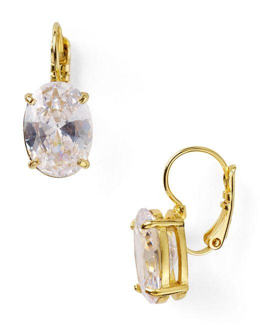 Kate Spade   Metallic Draped Jewels Oval Drop Earrings   Lyst