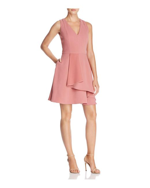Adelyn Rae - Pink Paige Fit-and-flare Dress - Lyst