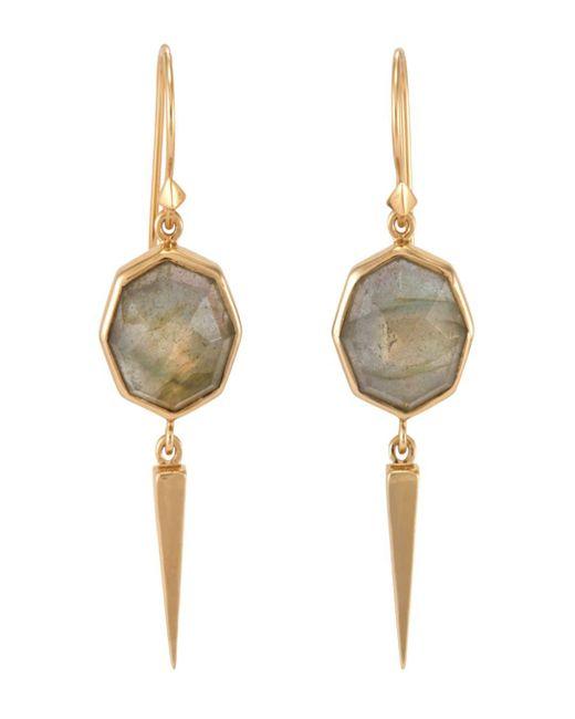 Melinda Maria - Green Jackson Labradorite Drop Earrings - Lyst