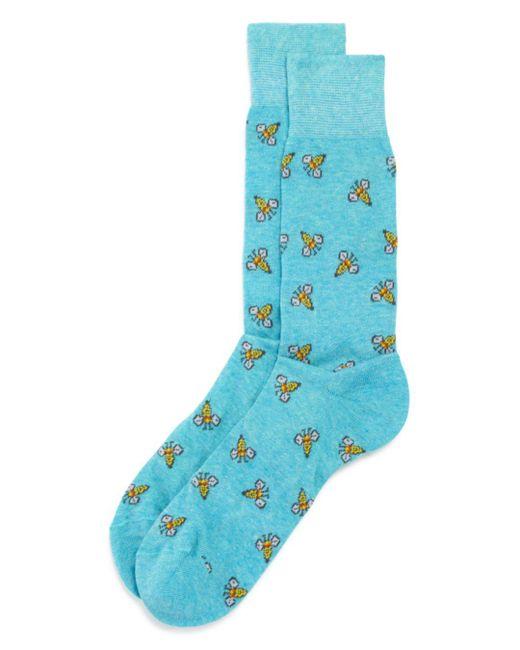 Bloomingdale's - Blue Bees Socks for Men - Lyst