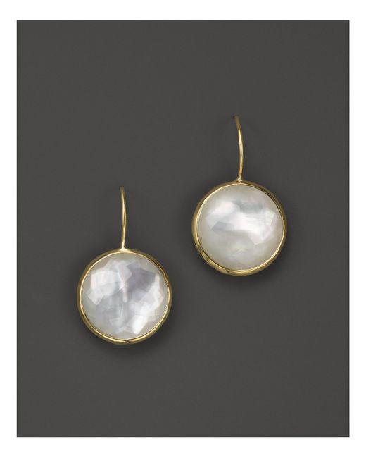 Ippolita | White Lollipop® 18k Gold Medium Round Earrings | Lyst