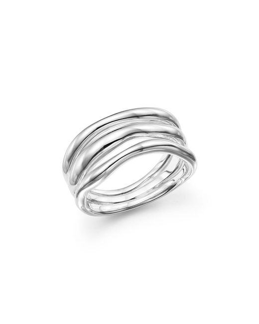 Ippolita | Metallic Glamazon® Sterling Silver Triple-band Squiggle Ring | Lyst