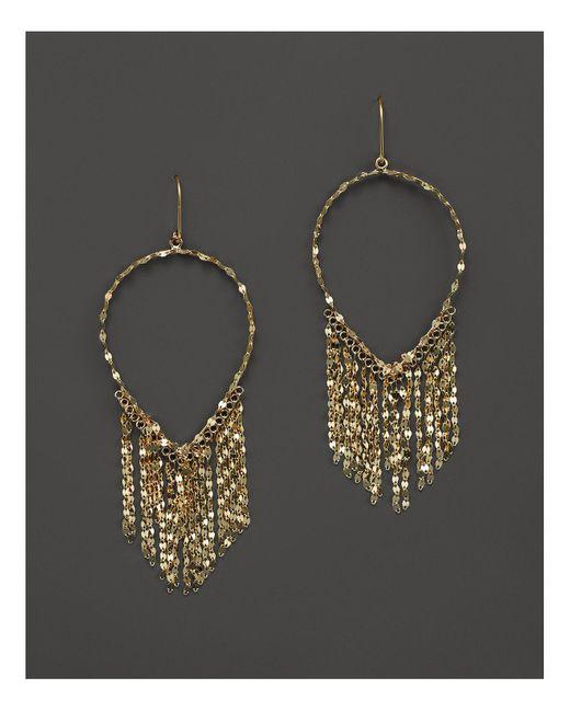 Lana Jewelry | Metallic 14k Yellow Gold Oval Fringe Earrings | Lyst