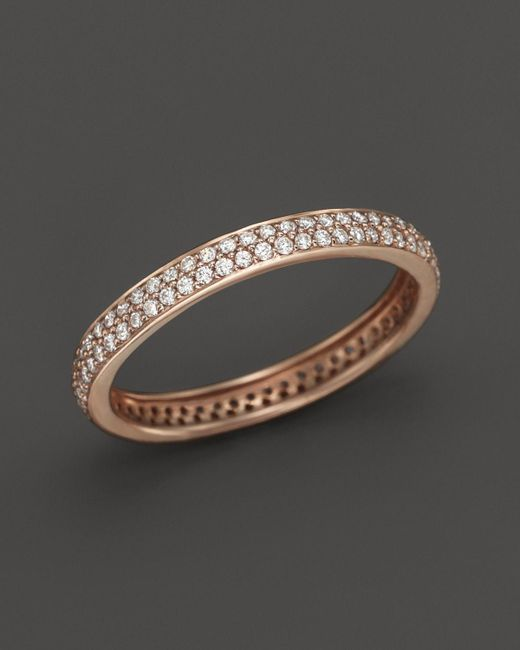 Dana Rebecca | Pink Two Row Diamond Band In 14k Rose Gold, .41 Ct. T.w. | Lyst