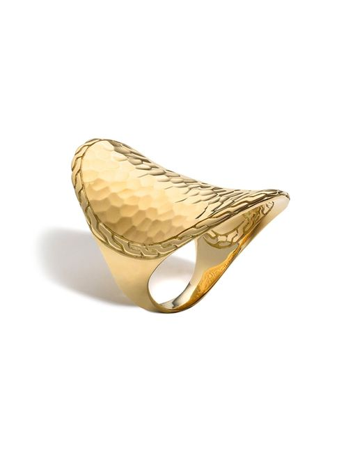 John Hardy | Metallic Palu 18k Gold Oval Saddle Ring | Lyst