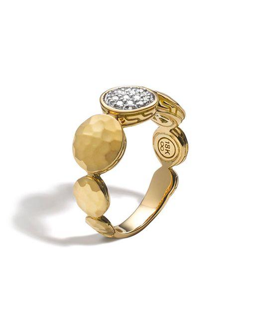 John Hardy   Metallic Palu 18k Gold Diamond Pave Ring, .10 Ct. T.w.   Lyst