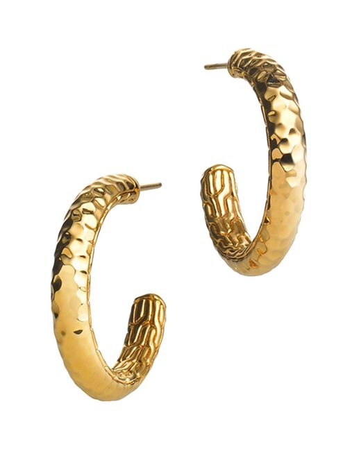 John Hardy | Metallic Palu 18k Gold Medium Hoop Earrings | Lyst