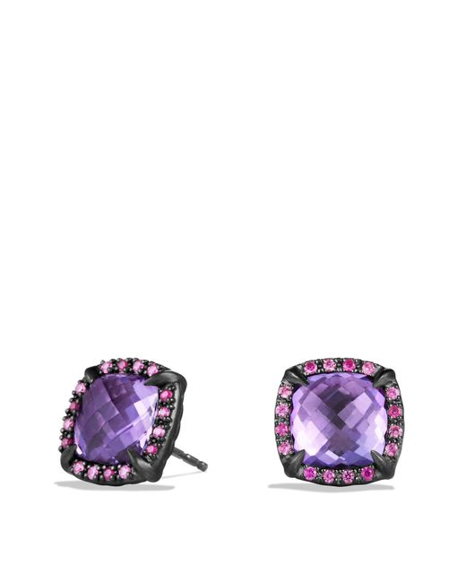 David Yurman | Purple Châtelaine Earrings With Amethyst And Pink Sapphire | Lyst