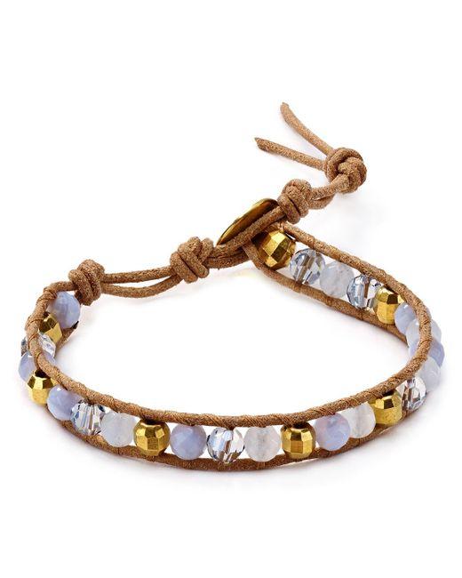 Chan Luu   Blue Single Strand Bracelet   Lyst