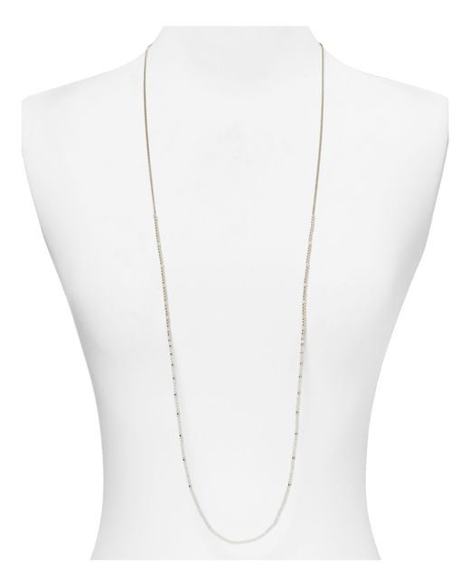 Chan Luu | Metallic Stone Necklace, 42"