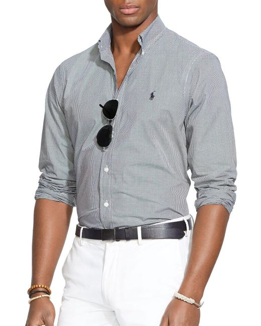 Polo Ralph Lauren | Black Checked Poplin Button-down Shirt - Classic Fit for Men | Lyst