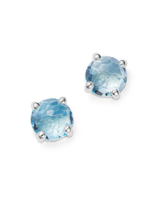Ippolita | Rock Candy® Sterling Silver Mini Stud Earrings With Blue Topaz | Lyst