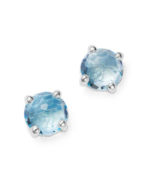 Ippolita | Metallic Rock Candy Sterling Silver Mini Stud Earrings With Blue Topaz | Lyst