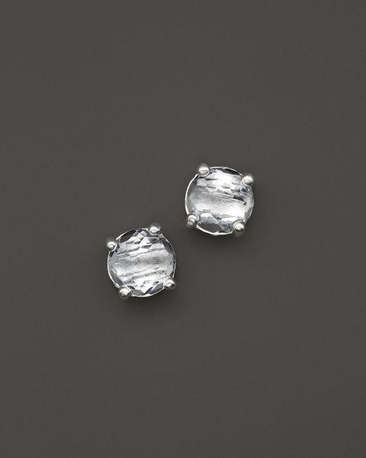 Ippolita | Metallic Rock Candy® Sterling Silver Mini Stud Earrings With Clear Quartz | Lyst