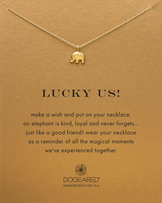 Dogeared | Metallic Lucky Us Necklace, 18"