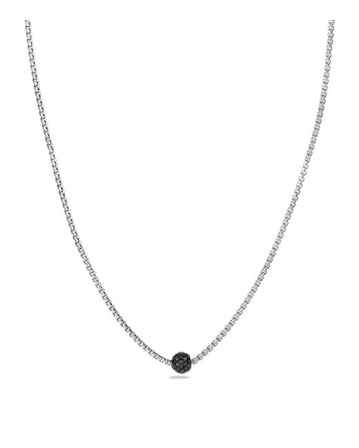 David Yurman | Black Petite Pavé Necklace With Diamonds | Lyst