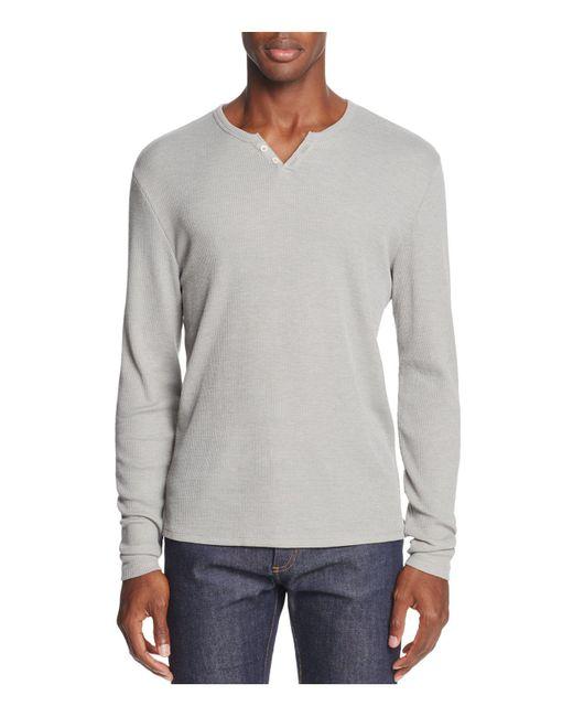 Joe's Jeans - Gray Wintz Long Sleeve Waffle Knit Henley for Men - Lyst