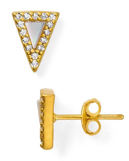 Freida Rothman | Metallic Slice Stud Earrings | Lyst