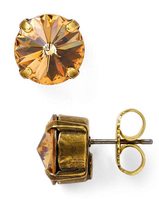 Sorrelli | Orange Round Stud Earrings | Lyst