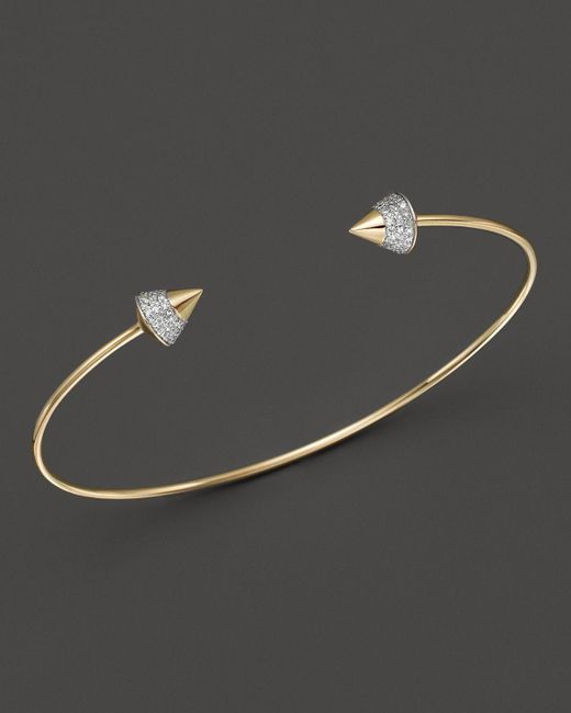 KC Designs | Metallic Diamond Studded Bracelet In 14k Yellow Gold - 100% Exclusive | Lyst