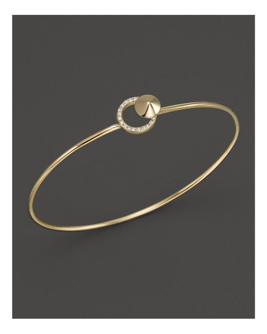 KC Designs | Metallic Diamond Circle Bangle In 14k Yellow Gold | Lyst