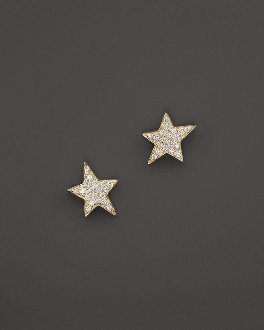 KC Designs   Metallic Diamond Star Stud Earrings In 14k Yellow Gold   Lyst