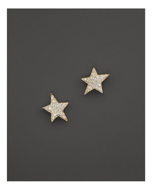 KC Designs | Metallic Diamond Star Stud Earrings In 14k Yellow Gold | Lyst