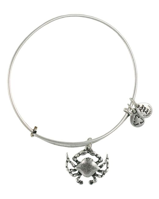 ALEX AND ANI | Metallic Crab Expandable Wire Bracelet | Lyst