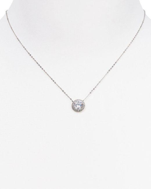 "Nadri | Metallic Circle Pendant Necklace, 16"" | Lyst"