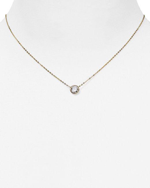 "Nadri   Metallic Pendant Necklace, 16""   Lyst"