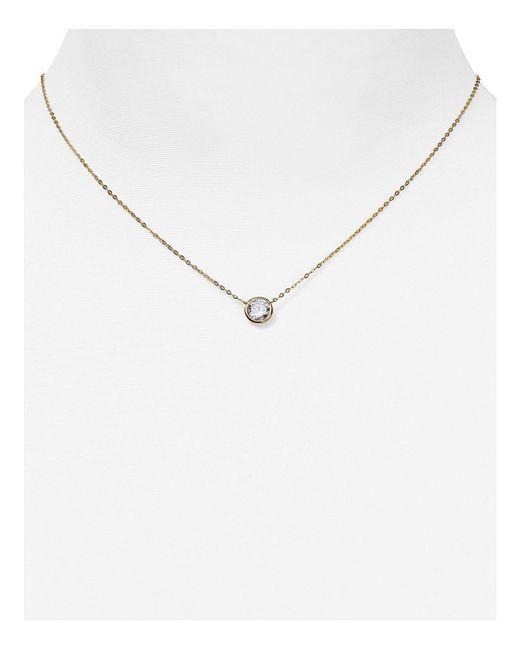 "Nadri | Metallic Pendant Necklace, 16"" | Lyst"