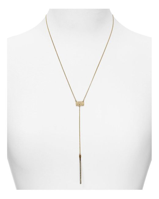 Phyllis + Rosie | Yellow Phyllis + Rosie Y Bar Necklace, 20"