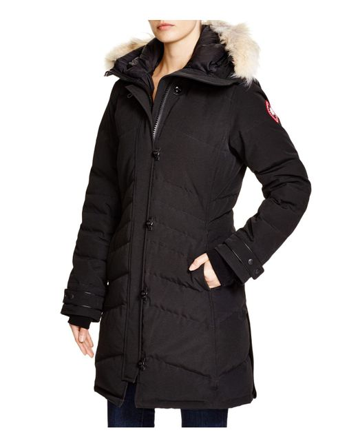 Canada Goose | Black Lorette Quilted Down Parka Jacket  | Lyst