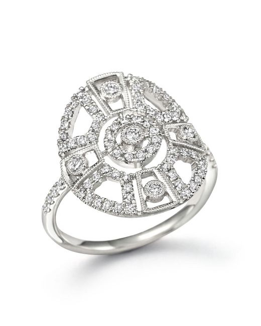Meira T | Metallic 14k White Gold Antique Inspired Diamond Ring | Lyst