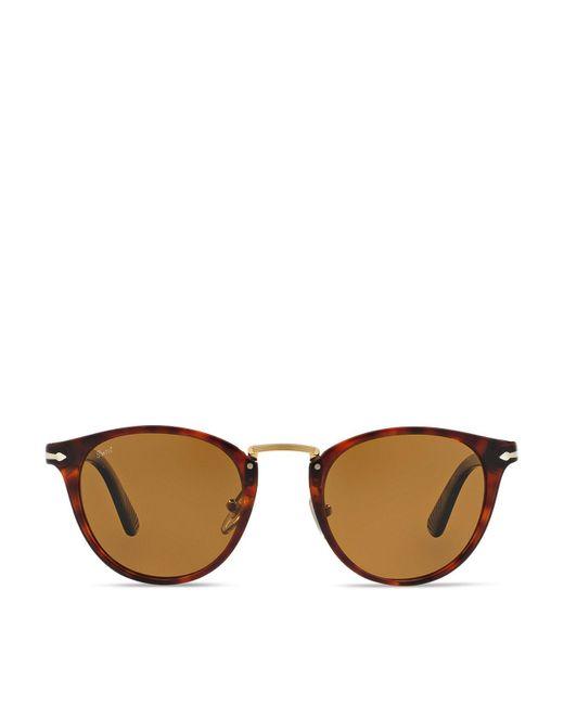 Persol | Brown 3108s Typewriter Edition Suprema Round Sunglasses, 49mm | Lyst