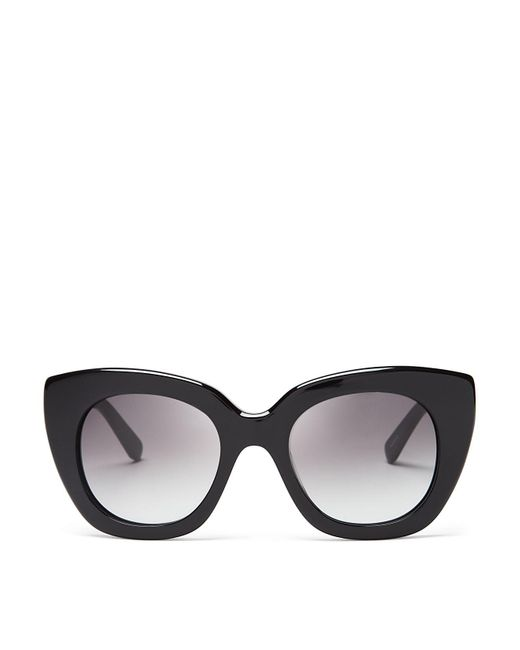 kate spade new york | Black Narelle Oversize Thick Rim Cat Eye Sunglasses, 51mm | Lyst