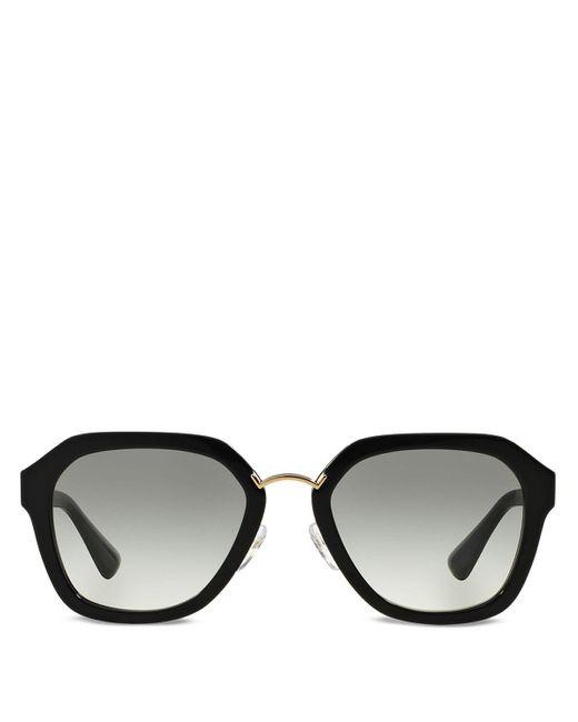 Prada | Black Catwalk Round Sunglasses, 55mm | Lyst