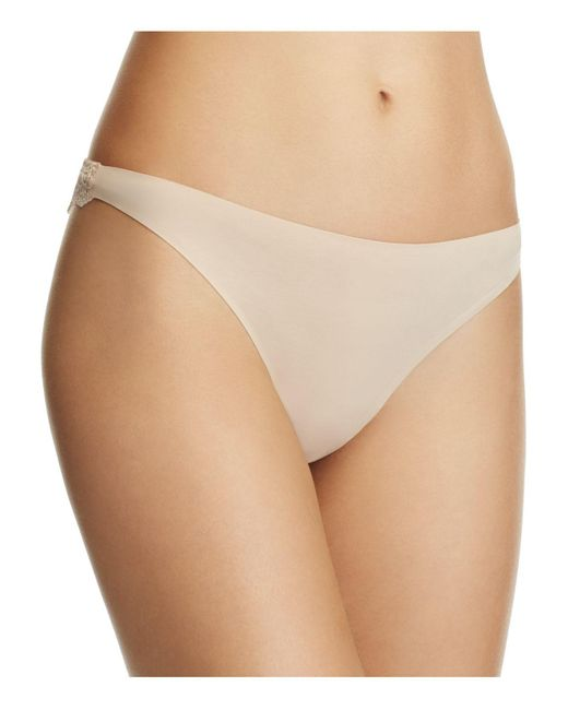 Stella McCartney | Natural Smooth & Lace Thong | Lyst